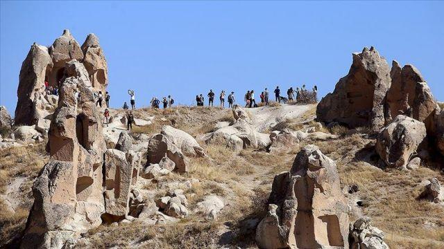 Kapadokya'yı 9 ayda yaklaşık 700 bin turist gezdi